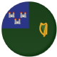 Dublin Flag 58mm Button Badge